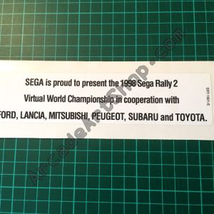 Sega Rally 2 upper-middle seat decal SRT-1601-E
