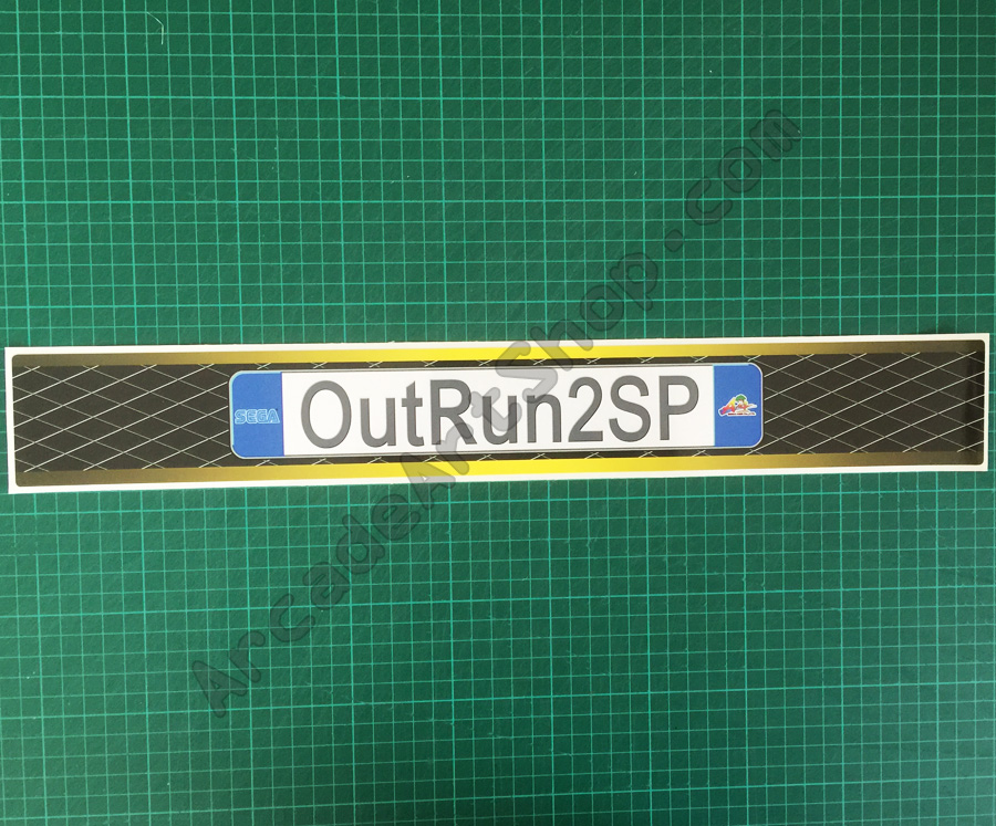 OutRun 2 SP UK base lid decal