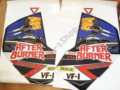 Afterburner side art decals pair