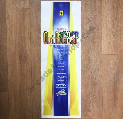 OutRun 2 SP Jap seat back decal