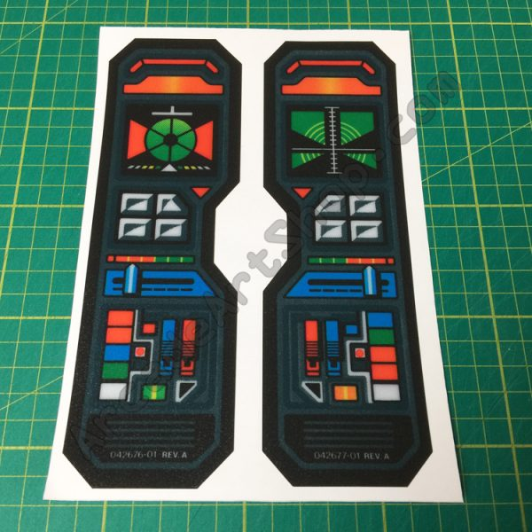 ROTJ control panel decals pair