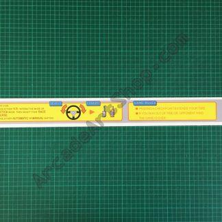 Sega Rally monitor bezel instructions decal