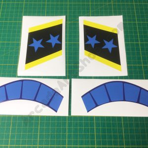 Afterburner bezel decal set