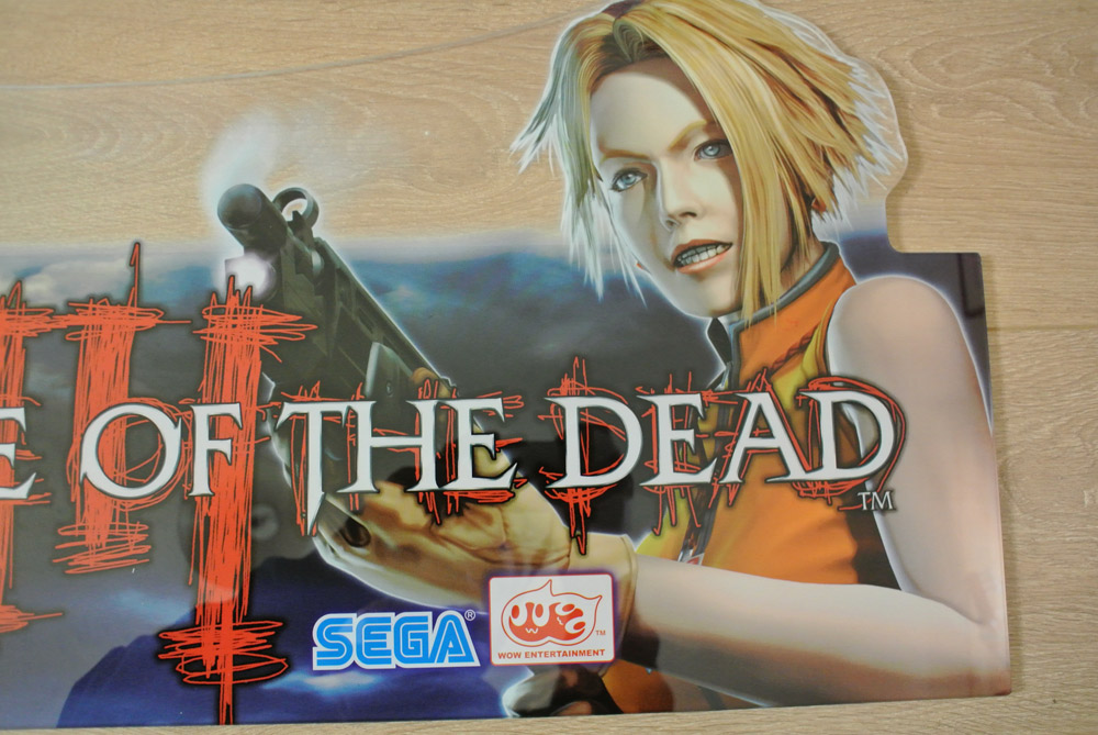 Nos House Of The Dead 3 Japan Marquee Topper Sold Out