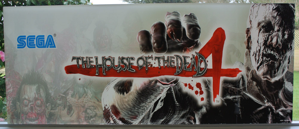 Original House Of The Dead 4 Plexi Marquee Sold Out Arcade Art