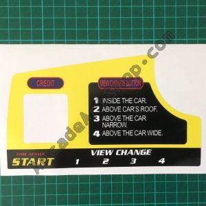 Daytona USA 2 with credit button cutout