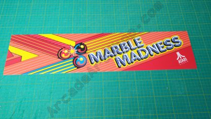 marble madness atari system 1 marquee