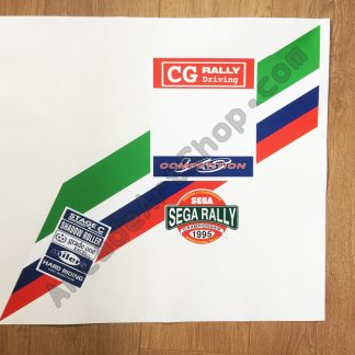 Sega Rally seat back upper decal