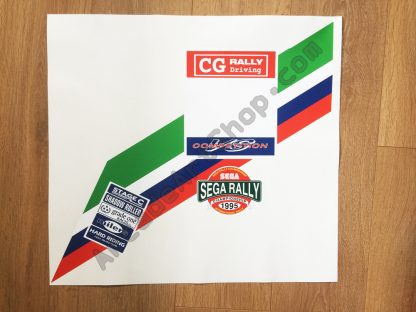 Sega Rally seat back upper decal