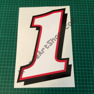 Daytona 2 Seat Sticker Number 1