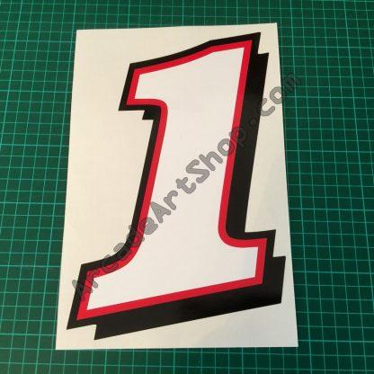 Daytona 2 Seat Sticker Number 1