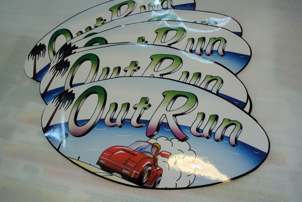OutRun oval decal