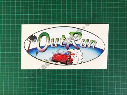 OutRun oval car logo decal