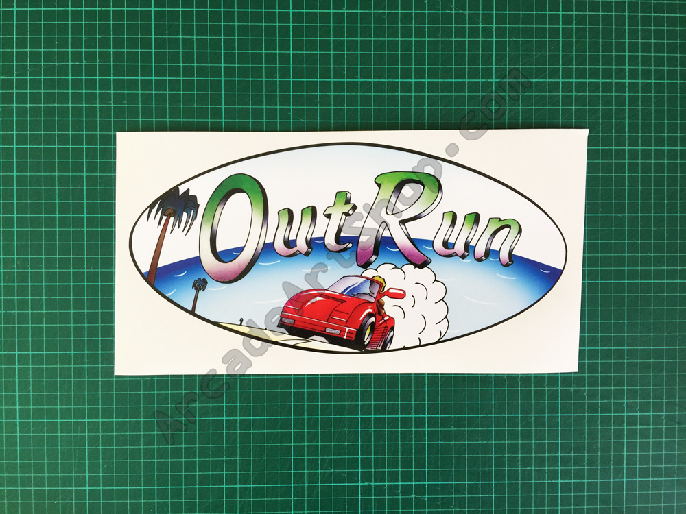 OutRun oval car logo decal