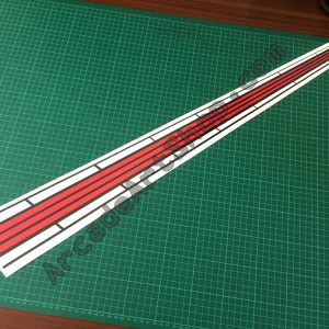 OutRun stripe decal UK version