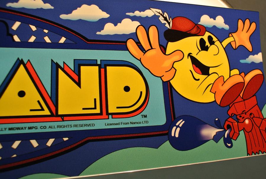 Pac Land Midi Sized Backlit Flexi Marquee Arcade Art Shop