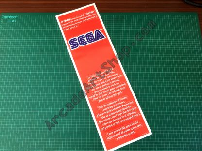 F355 Challenge Seat Back decal