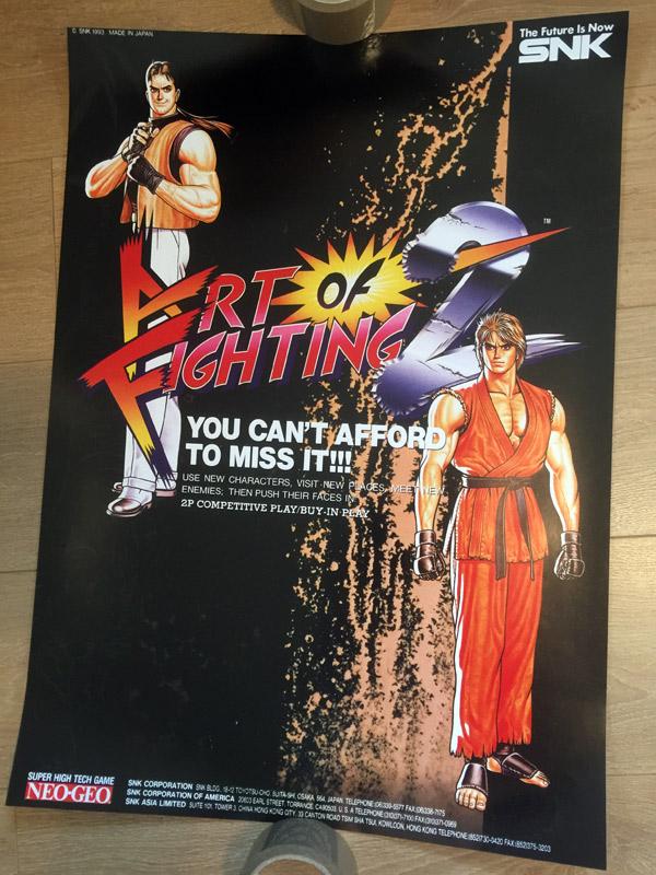Art Of Fighting 2 Poster Arcade Art Shop