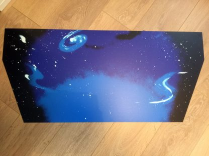 Space Invaders curved backdrop