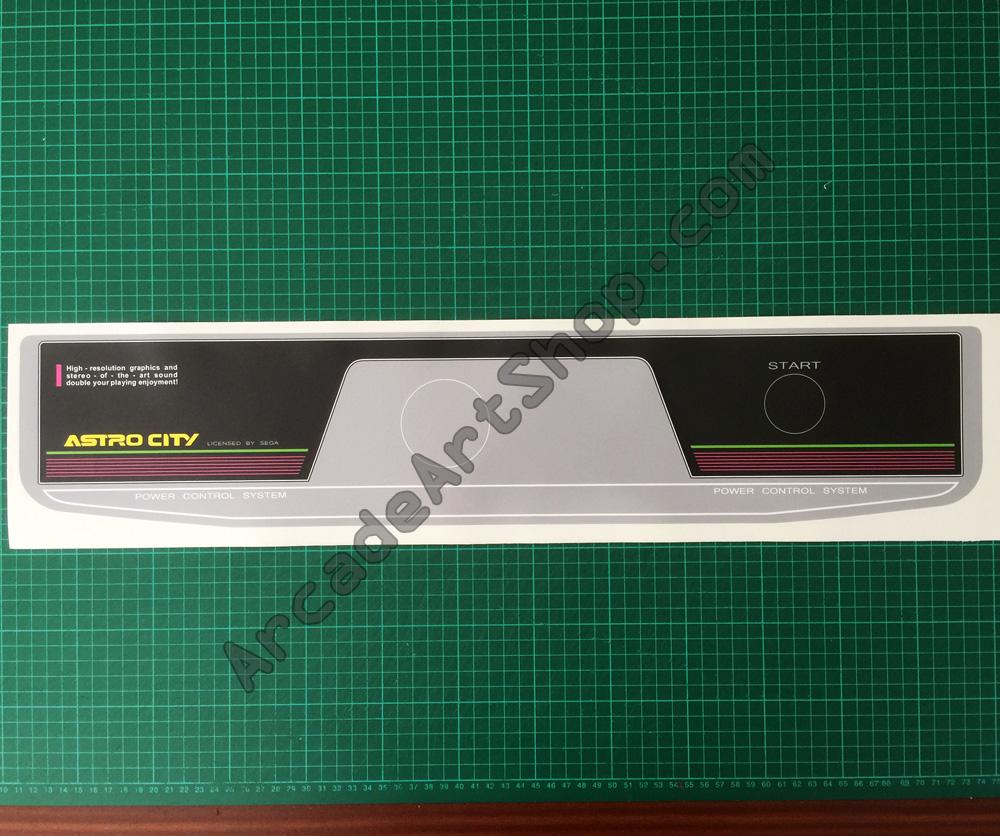 Sega Astro City 1 Player Control Panel Overlay, 1P CPO