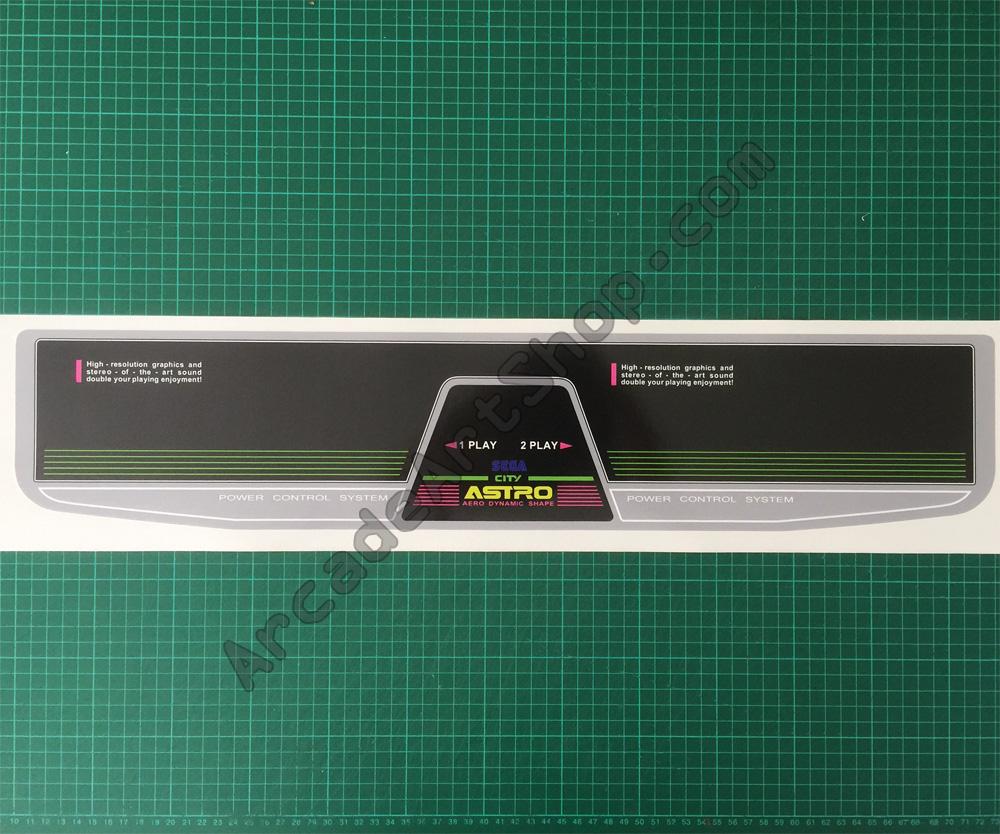 Sega Astro City 2 Player Control Panel Overlay, 2P CPO