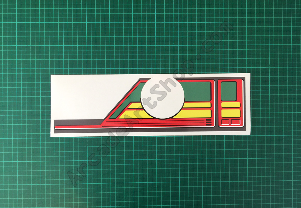 OutRun mini cabaret dash steering decal