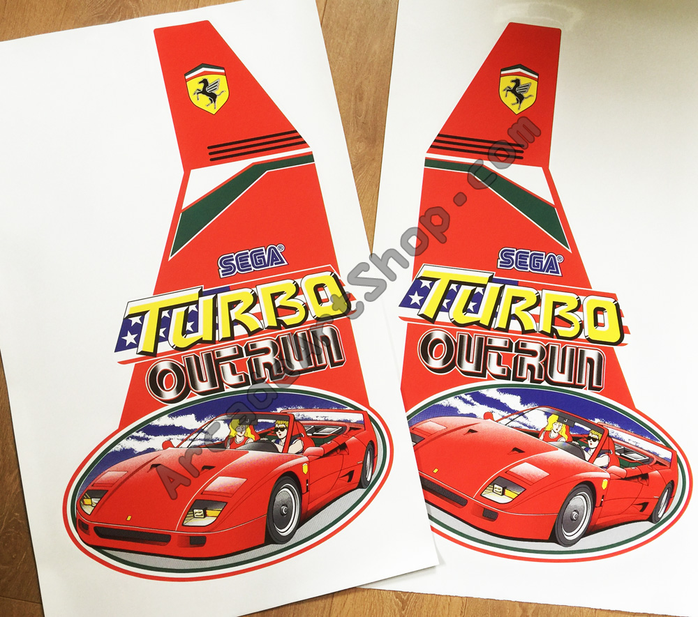 Turbo OutRun side art pair