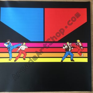 Electrocoin Street Fighter control panel overlay