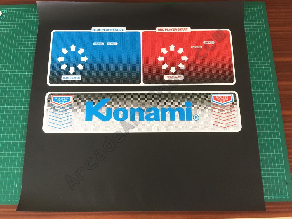 Konami Electrocoin Salamander Control Panel Overlay Cpo