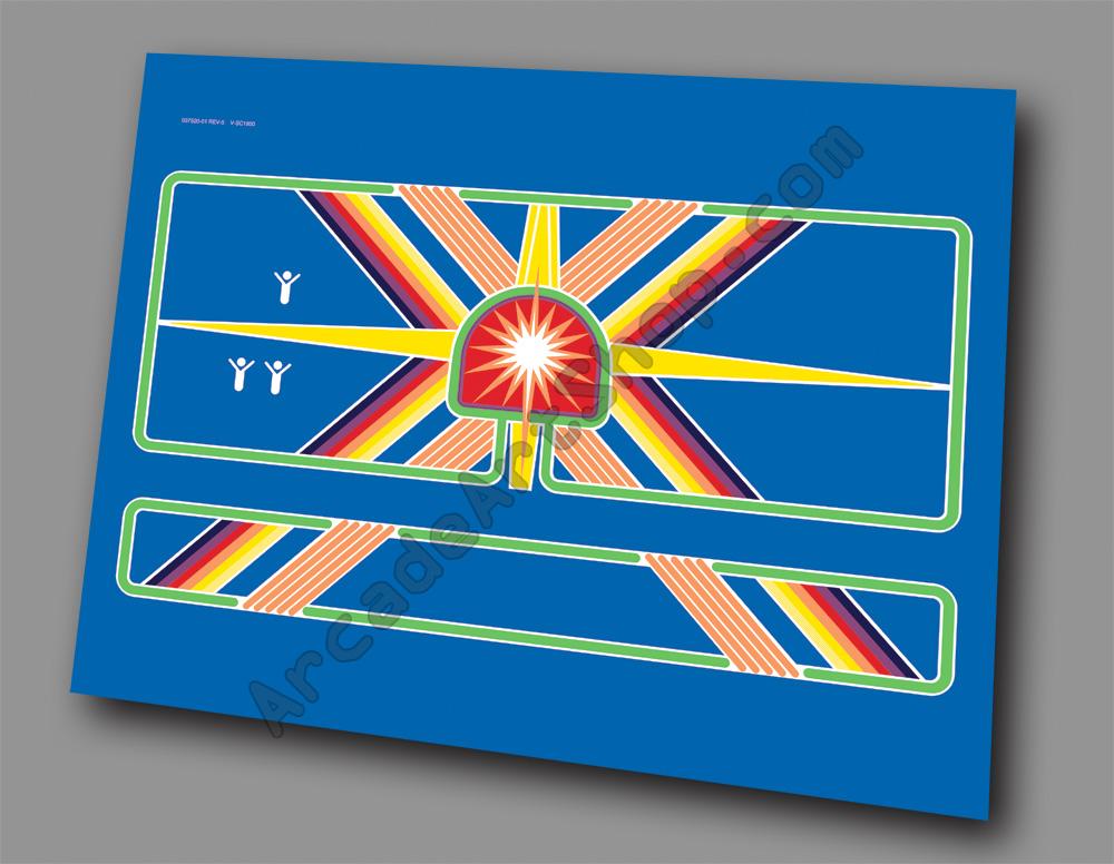 Centipede Atari Ireland Euro Cabaret Control Panel Overlay
