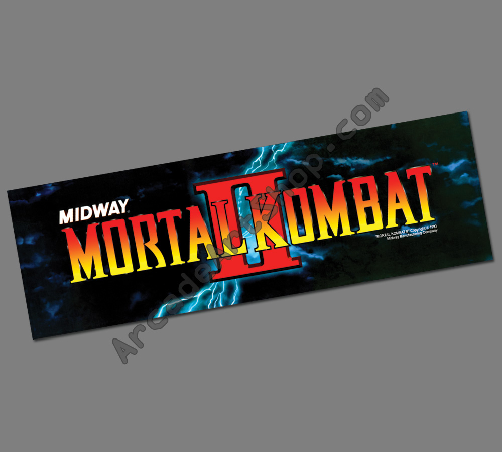 Mortal Kombat Ii Marquee Header Arcade Art Shop