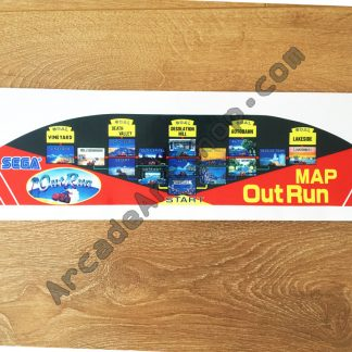 OutRun Map Sticker