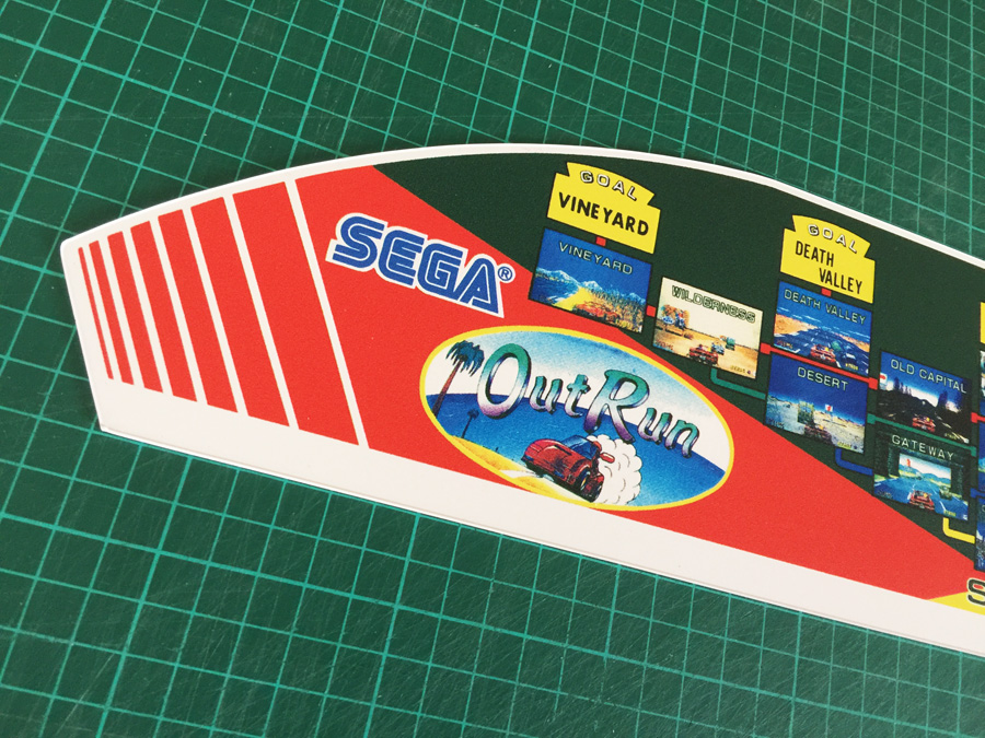 Outrun Pvc Map Topper For Mini Cabaret Cabinet Arcade
