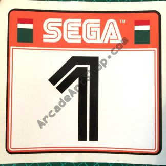 Sega Rally 2 seat sticker Number 1 SRT-1601-J