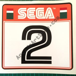Sega Rally 2 seat sticker number 2 SRT-1601-A