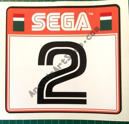 Sega Rally 2 seat sticker number 2 SRT-1601-A