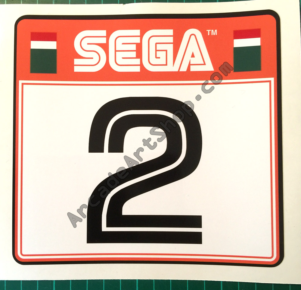 Sega rally 2 seat sticker number 2 srt 1601 a