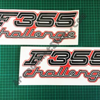 F355 Challenge side art decals