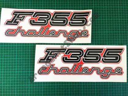 F355 Challenge side art decals