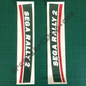 Sega Rally 2 seat back long stickers