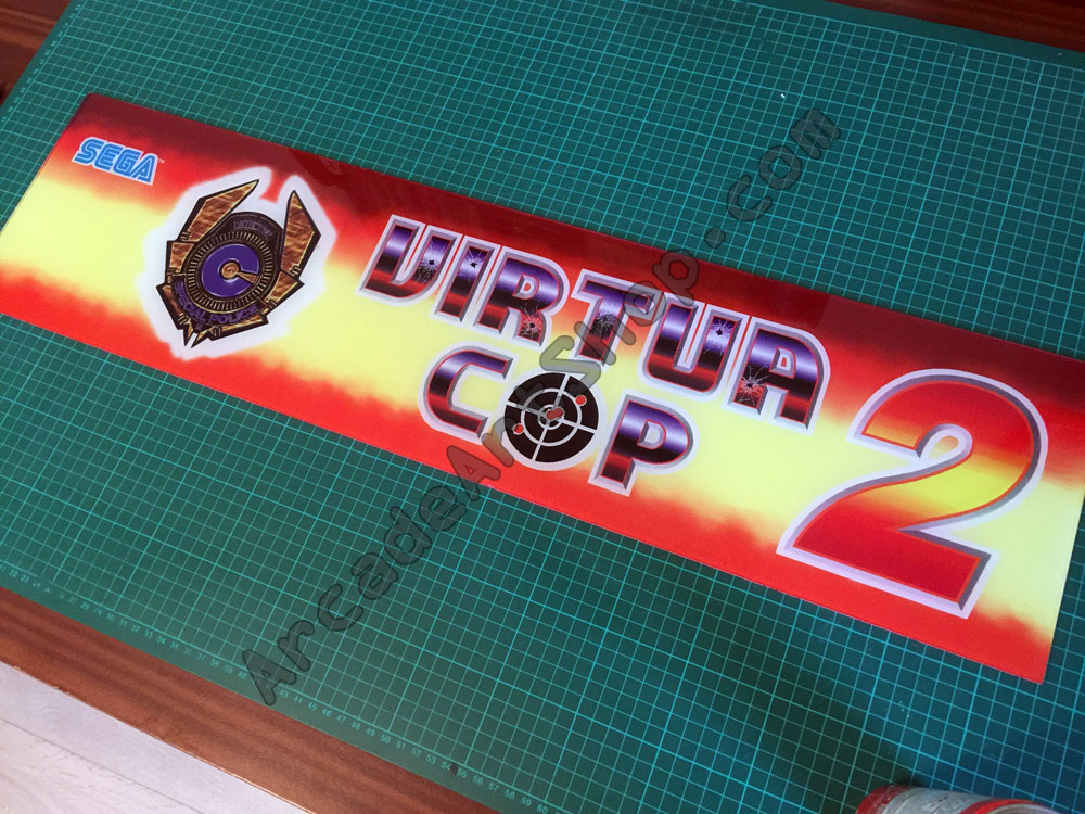Virtua Cop 2 Original Sega Perspex Marquee *SOLD OUT