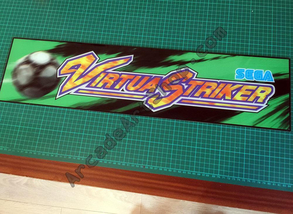 Virtua Striker Original Sega Perspex Marquee