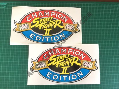 Street Fighter 2 Champion Edition side art pair