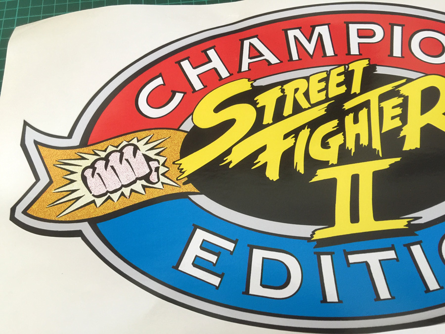 Street Fighter 2 Champion Edition Sf2ce Side Art Pair Arcade Art