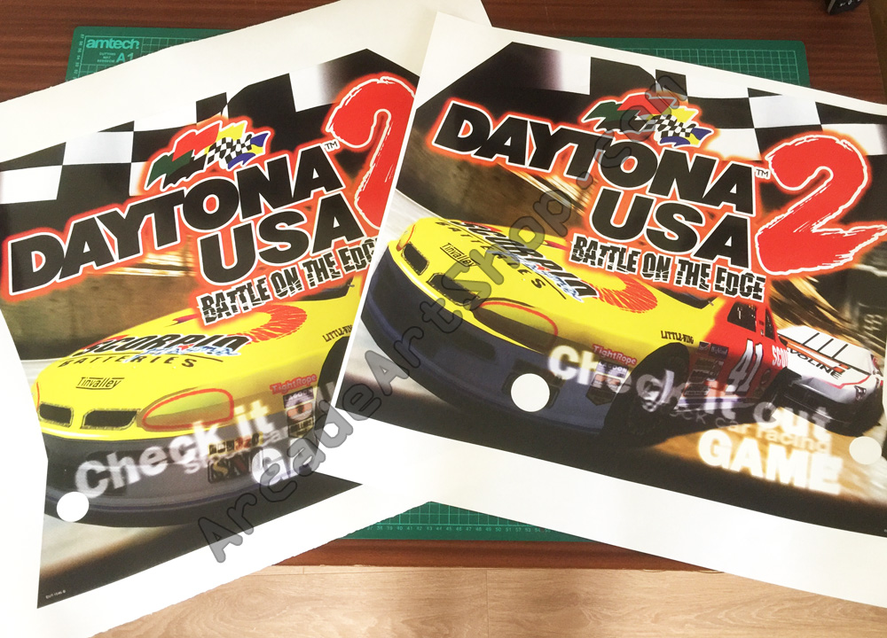 Daytona USA 2 side art