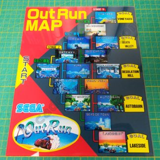 OutRun DLX plexi map