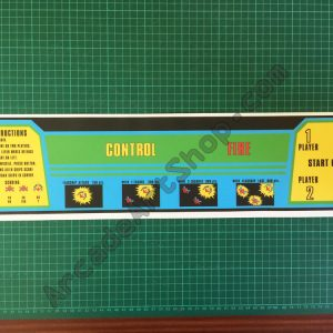 Galaxian control panel overlay
