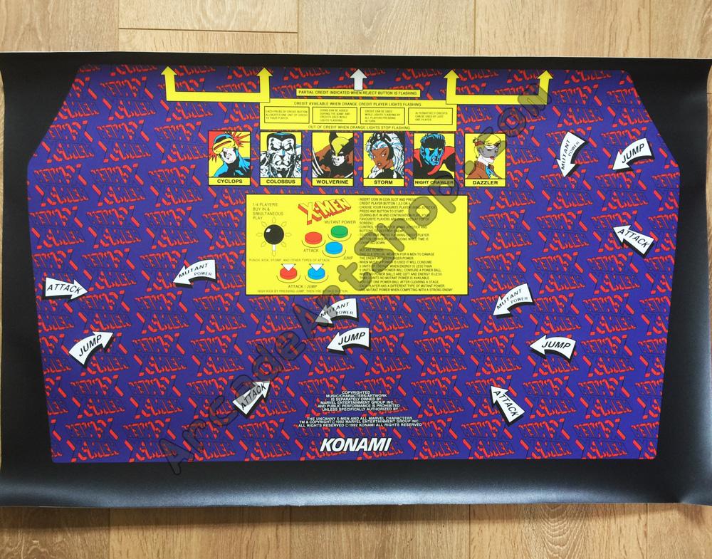 X Men Konami Uk Cabinet Control Panel Overlay Cpo Arcade