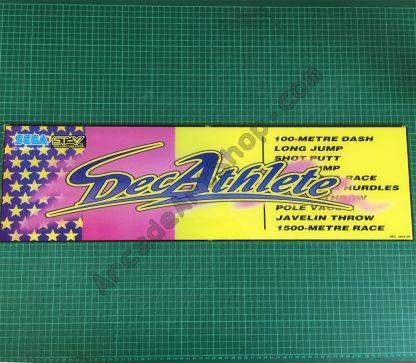 Decathlete original Sega marquee