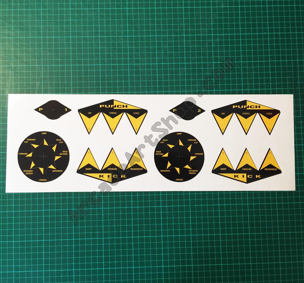 Street fighter button stickers set